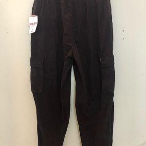 Women's black cargo pants